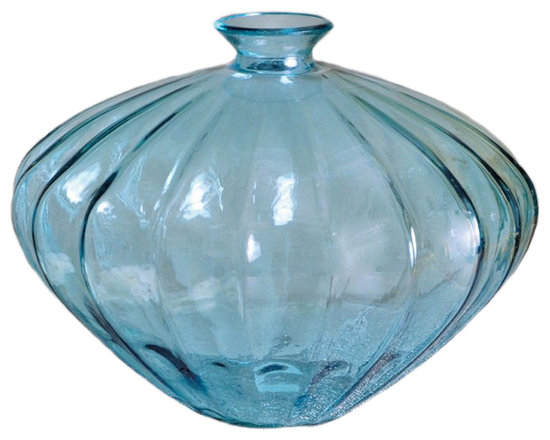 Azure Vase - Beautiful enough to stand on its own, the Azure Vase is textured, making it an ideal vessel for a floral arrangement.