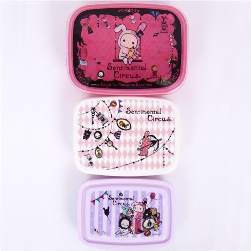 Sentimental Circus Bento Box 3 pcs Lunch Box rabbit lunch-boxes-and-totes