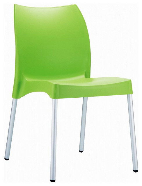 Vita Resin Outdoor Dining Chair Apple Green Set Of 2 Modern Dining Chai
