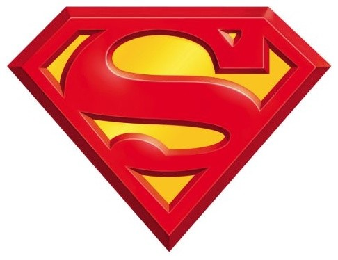 Superman 3D Logo http://www.houzz.com/photos/935924/DC-Superman-Logo-Wall-Decal-contemporary-decals-
