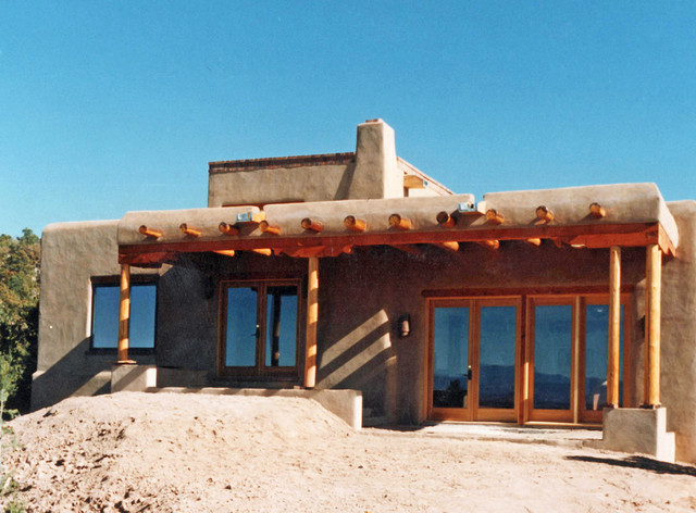 Traditional pueblo style passive solar adobe residence for Adobe construction pueblo co
