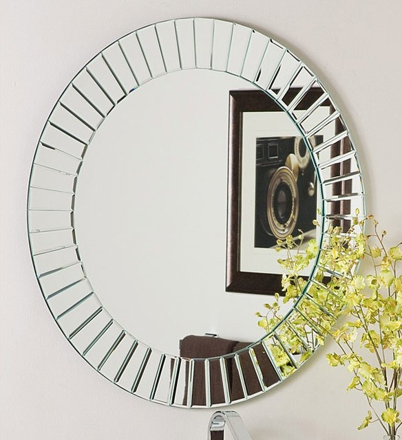 Glow modern frameless wall mirror contemporary wall Modern round mirror