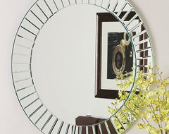 Glow Modern Frameless Wall Mirror contemporary mirrors