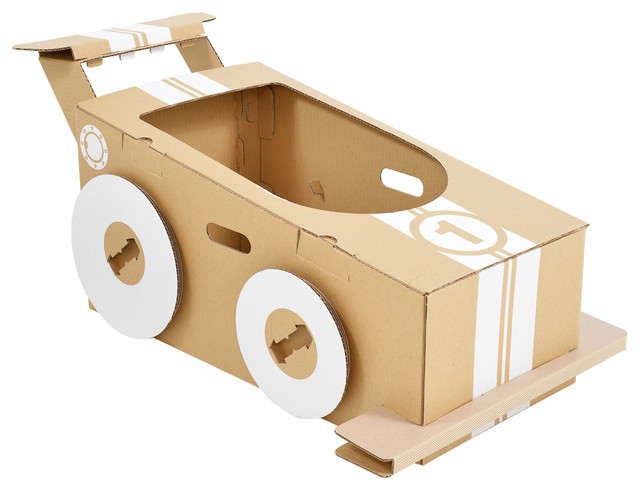 Cardboard Little Racer Contemporary Kids Toys And Games By Modern