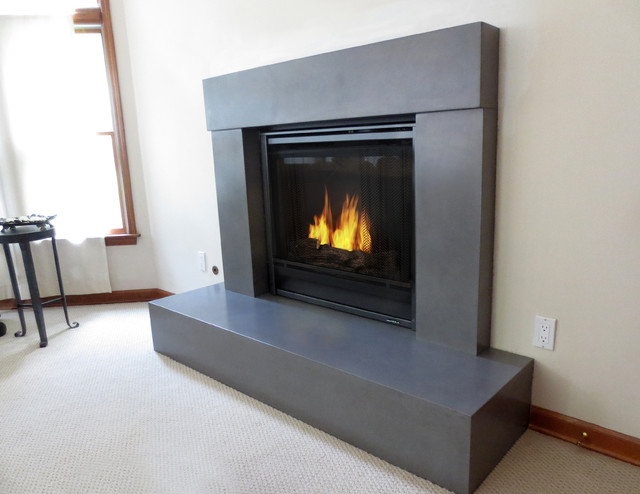 gallery for modern fireplaces. be modern kansas wood finish ...