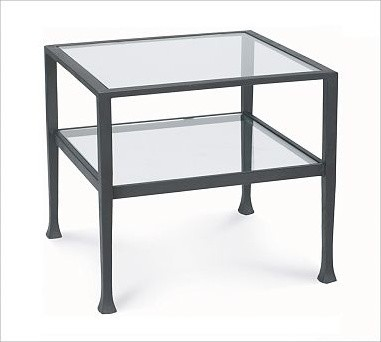 Tanner Occasional Cube Coffee Table With Glass Top Traditional Coffee Tables By Pottery Barn