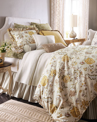 French Laundry Home Olivia Bed Linens King Floral Duvet Cover traditional-duvet-covers-and-duvet-sets