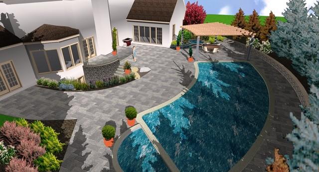 Bucks County residence contemporary-rendering