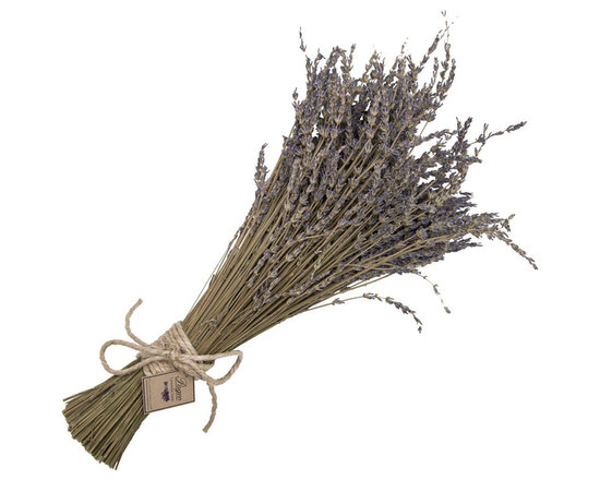 Lavender Bundle - There are so many decorative uses for this beautiful dried lavender bundle. They are perfect to hang a wall, fill in a vase or display for that wonderful dinner party you've been meaning to throw.