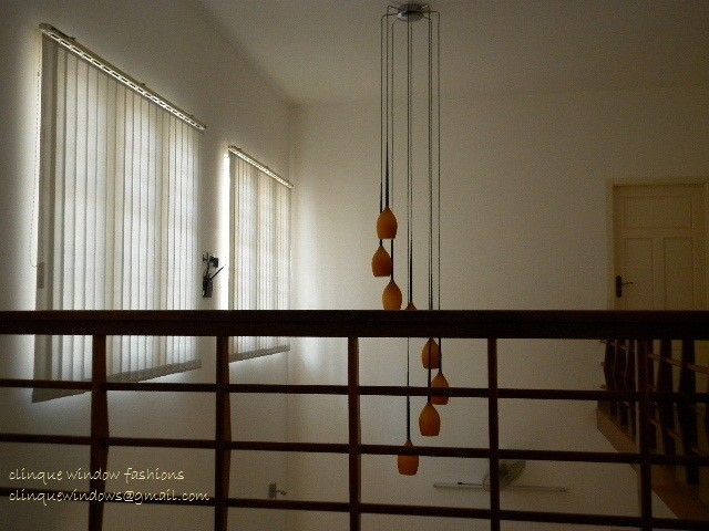 Karimpana, A house covered by vertical blinds. contemporary-vertical-blinds