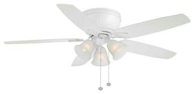 Indoor Ceiling Fans: Hampton Bay Ceiling Fan. Chastain II 52 in. Matte White Cei contemporary-ceiling-fans