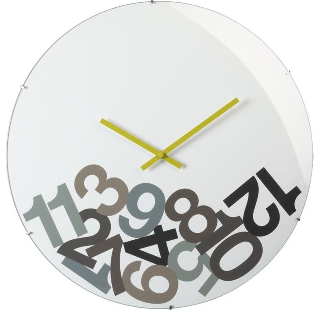 Dropped Numbers Clock modern-clocks