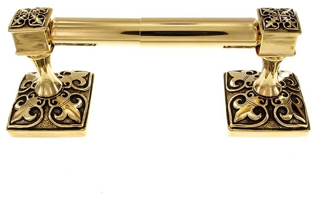 Fleur de lis toilet paper holder spring antique gold traditional toilet paper holders - Fleur de lis toilet paper holder ...