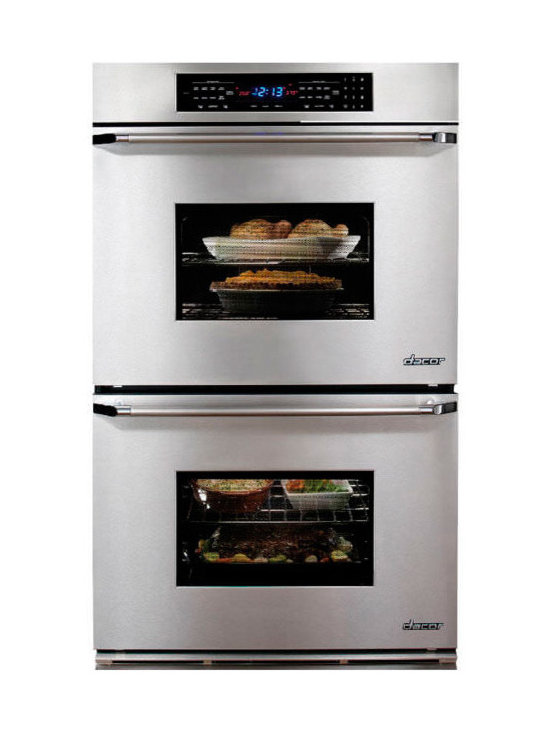 """Dacor Classic Epicure 27"""" Double Wall Oven, Stainless W/ Chrome Trim 