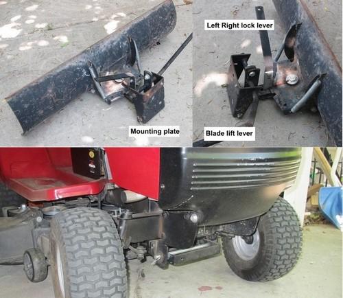 Lawn Tractor Snow Plow Blades : Murray garden tractor mower