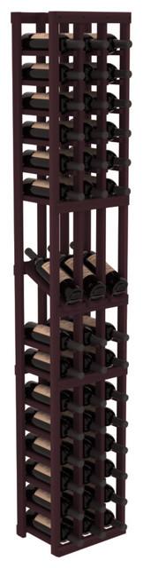 3 Column Display Row Wine Cellar Kit in Redwood, Burgundy contemporary-wine-racks