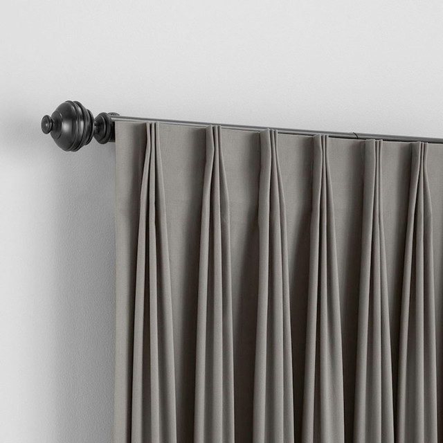 Bali Custom Inverted Pleat Draperies - Traditional - Curtains - denver - by BlindSaver.com