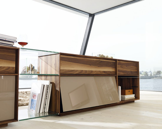 Lux Modern Walnut and Glass Sideboard - Lux modern sideboard cabinets embody pure luxury - the perfect accompaniment for open plan living.