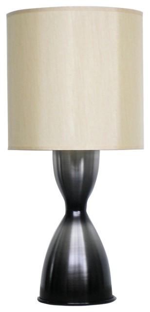 Contemporary Babette Holland Lulu Smoke Finish Modern Table Lamp contemporary-table-lamps