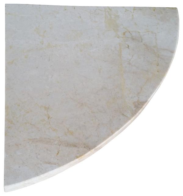 Quot marble shower corner shelf crema sunset stone