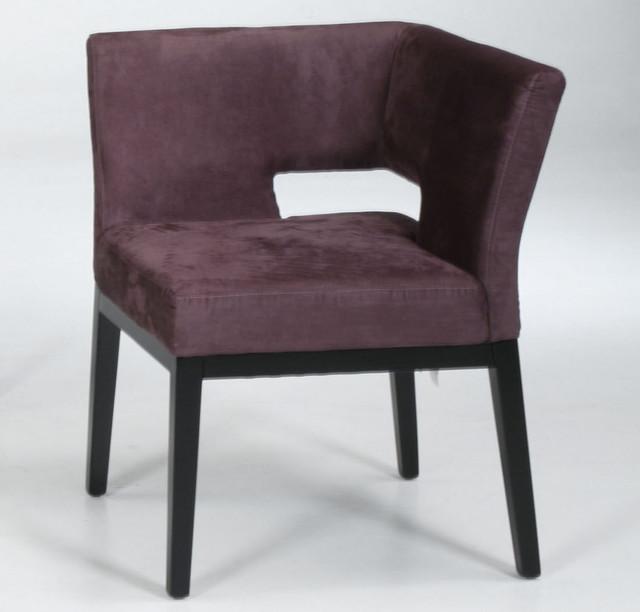 Corner Accent Chairs: Microfiber Corner Chair In Eggplant