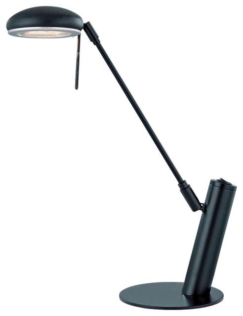 Contemporary Lite Source Orbit Black Adjustable Desk Lamp contemporary-table-lamps