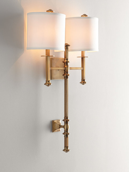 Lighting - Handsome transitional double sconce is an excellent choice to coordinate with a wide range of decor styles.