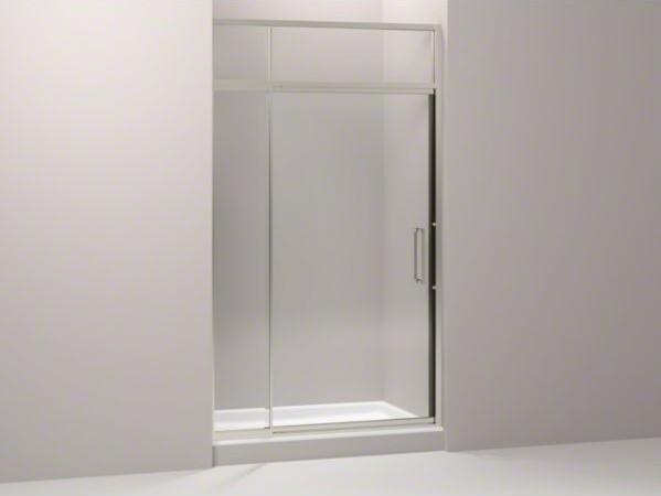 """KOHLER Lattis(R) pivot shower door with sliding steam transom, 89-1/2"""" H x 45 - contemporary-shower-doors"""