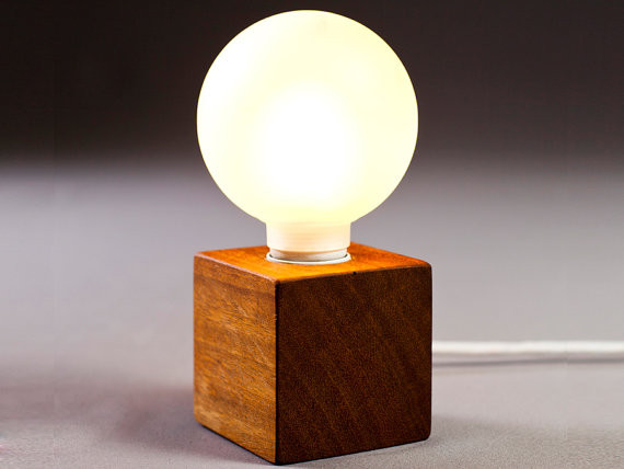 Solid Wood Lamp Enkle By Nord Architect Design Contemporary Table Lamps By Etsy