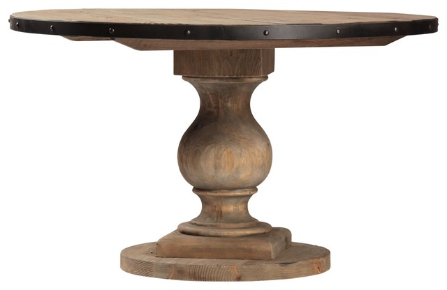 Farmhouse round pedestal table 51 eclectic new york for Table quiz rounds