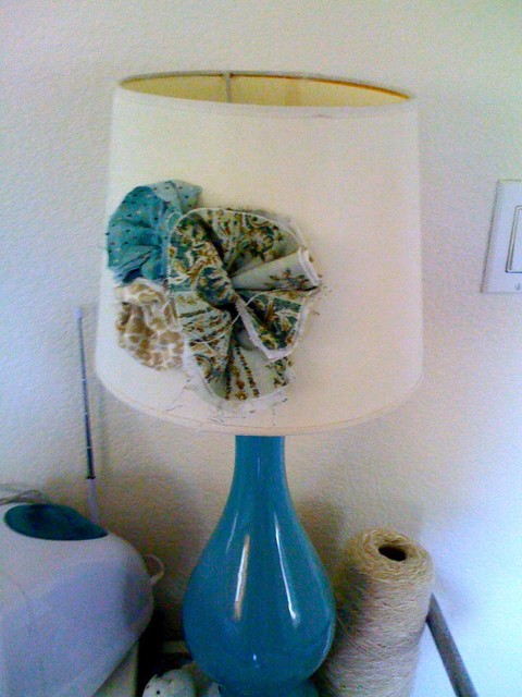 Fabric Flowers eclectic lamp shades