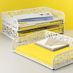 Vinea Stacking Letter Tray - Contemporary - Desk ...