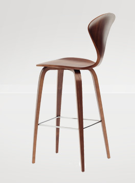Cherner Counter Stool, Walnut Veneer contemporary-bar-stools-and-counter-stools