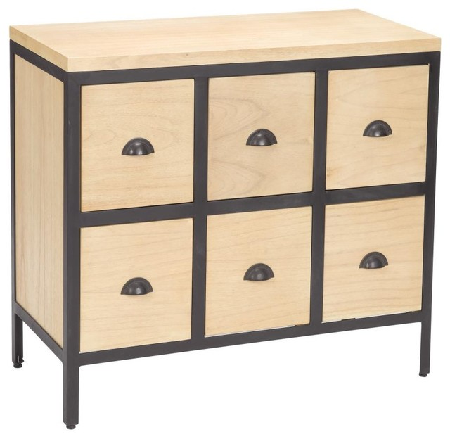 Chest 6 Drawers With Iron Frames contemporary-kitchen-cabinets