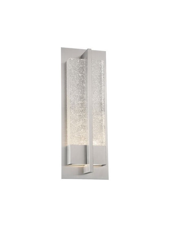 WAC Modern Forms - WAC Modern Forms | Omni 20 Inch LED Outdoor Wall Light - Design by Modern Forms.The Omni 20 Inch LED Outdoor Wall Light features LEDs that sparkle mesmerizingly through glacial glass for interior and exterior applications. Weather proof stainless steel or bronze finishes complete this inspiring sconce.