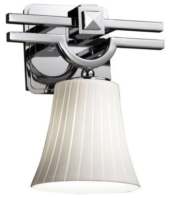 Justice Design Group Fusion FSN-8501-20-RBON-CROM Argyle 1-Light Wall Sconce - P modern-wall-lighting