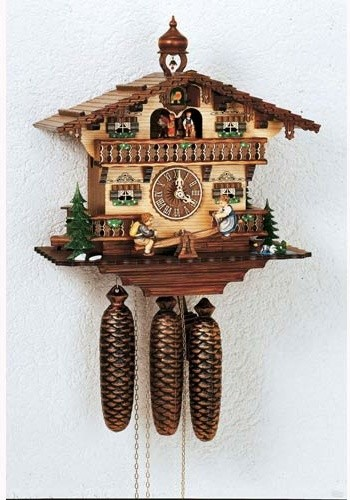 Black Forest Eight-Day Musical Antique 13-Inch Cuckoo Clock eclectic-clocks