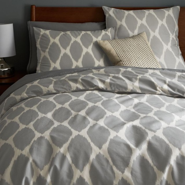 Ikat Ogee Duvet Cover Contemporary Duvet Covers And