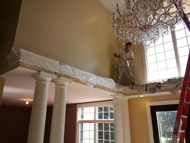 Foyer Ceiling Paint : High ceiling foyer