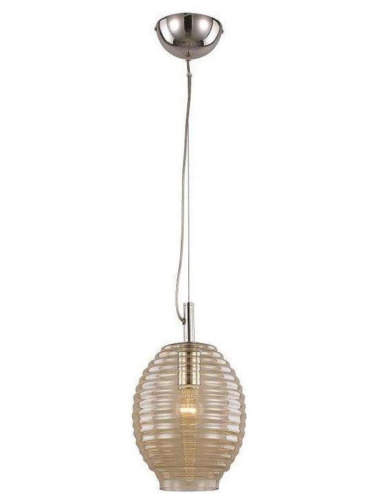 Trans Globe Lighting - Trans Globe Lighting PND-962 AMB Drop Pendant In POLISHED CHROME - Part Number: PND-962 AMB
