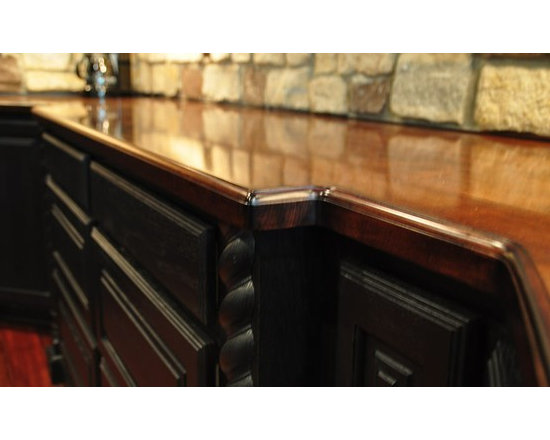 Hard Maple Bar Top with Chicago Bar Rail. Designed by Karen A. Trinchere of A De -