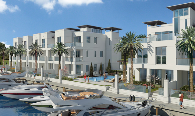 Sky 230 Luxury Townhomes Contemporary Rendering