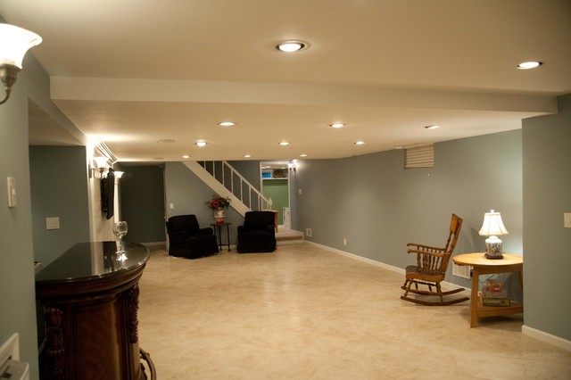 finished basement traditional basement bridgeport