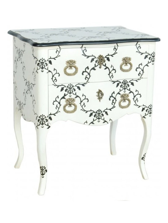 Chichi Furniture - This beautiful bedside table will simply transform your room, adding French charm and style.