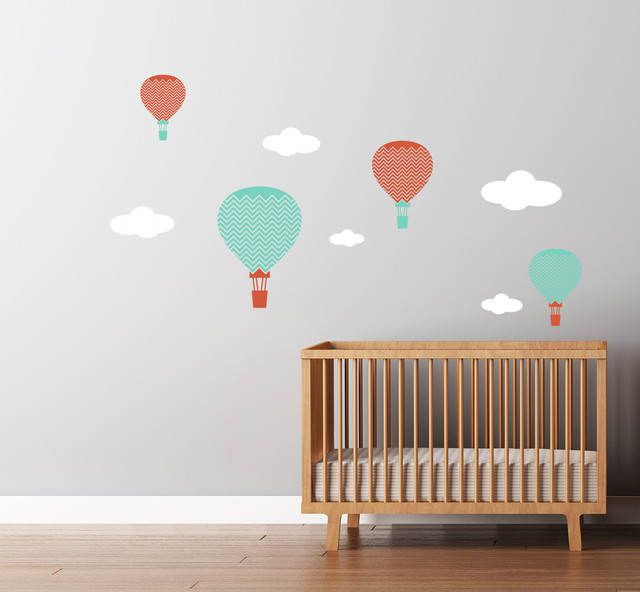 Hot Air Balloons Decals Large Chevron Pattern contemporary-wall-decals