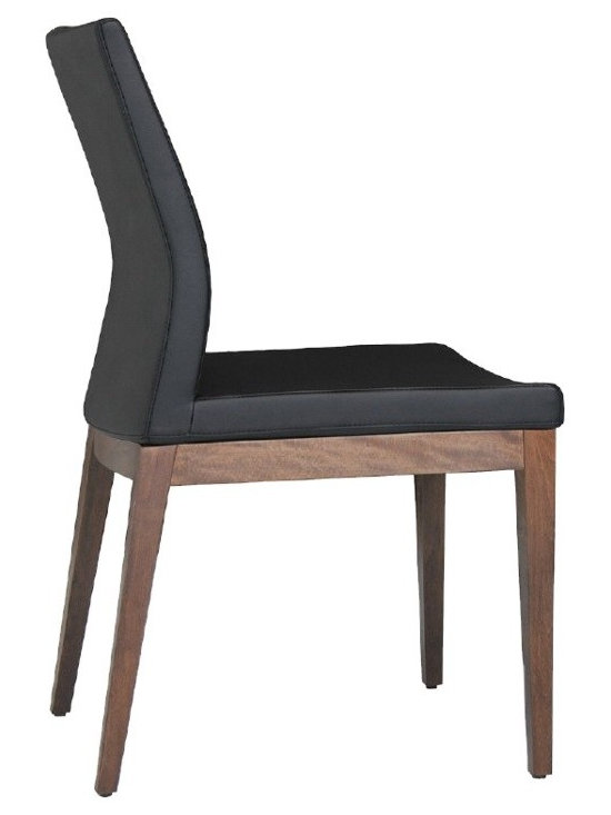 """Pasha Wood Chair by sohoConcept - Pasha Wood is an ergonomic dining chair with a comfortable upholstered seat and backrest on solid beech legs tipped with screwed plastic caps. The seat has a steel structure with """"S"""" shape springs for extra flexibility and strength. This steel frame molded by injecting polyurethane foam. Pasha seat is upholstered with a removable velcro enclosed leather, PPM or wool fabric slip cover. The chair is suitable for both residential and commercial use"""
