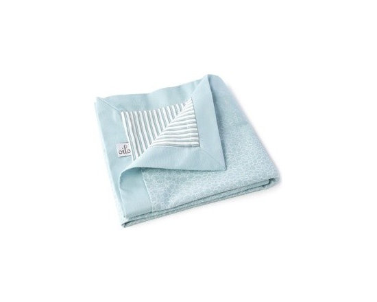 Oilo Raindrops Play Blanket- Aqua - Oilo Raindrops Play Blanket- Aqua