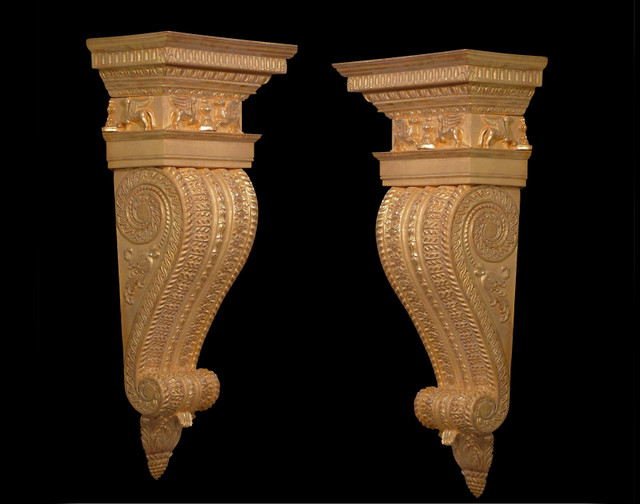Pair of George III Architectural Brackets traditional-mirrors