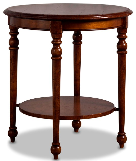 Emile Hand Painted Round Side Table Traditional Side
