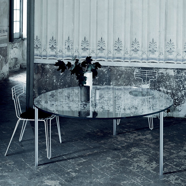 Glas Italia Steel Round Dining Table modern-dining-tables